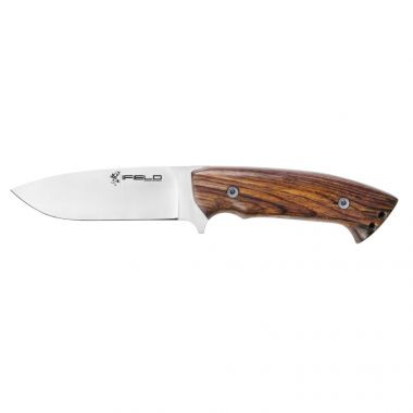 Hunting Knife Workout EL29112 Sport, 4.5 inch MOVA Blade Full Tang, Satin Finish, Cocobolo Handle, Includes Brown Leather Sheath, Camping Tool for Fishing, Hunting, Sport Activity